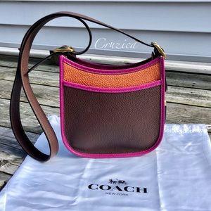 New Coach Emery 21 Colorblock Crossbody Bag